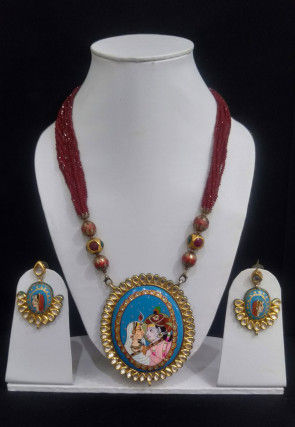 Tanjore Painted Necklace Set