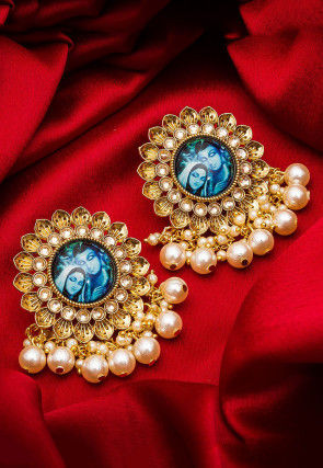 Tanjore Painted Stone Studded Earring