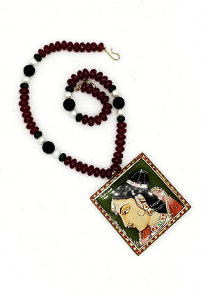Tanjore Painted Stone Studded Necklace