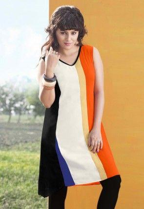 Georgette Tunic in Multicolor