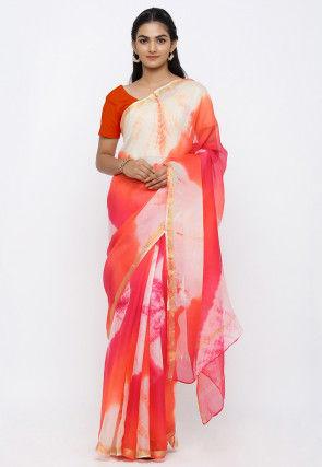 Tie N Dye Pure Kota Silk Saree in Multicolor