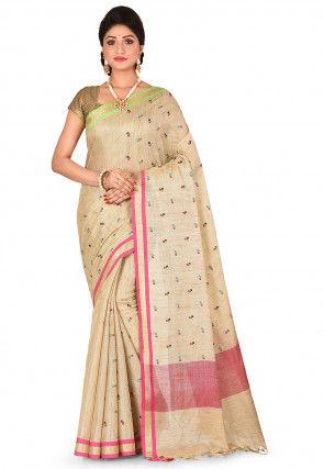 Tissue Silk Saree in Golden