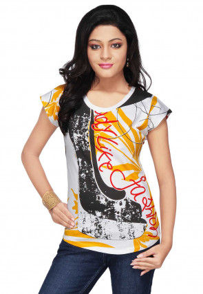 Printed Cotton Top in Multicolor