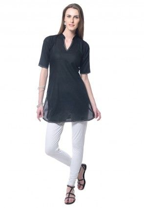 Cotton Kurti in Black