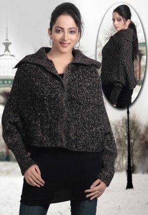 Woolen Jacket in Black