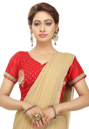Woven Georgette Blouse in Red