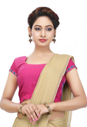Plain Georgette Blouse in Pink