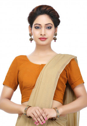 Plain Georgette Blouse in Mustard