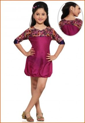 Printed Chiffon Dresses in Fuchsia
