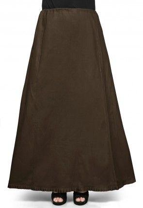 Cotton Petticoat in Dark Brown