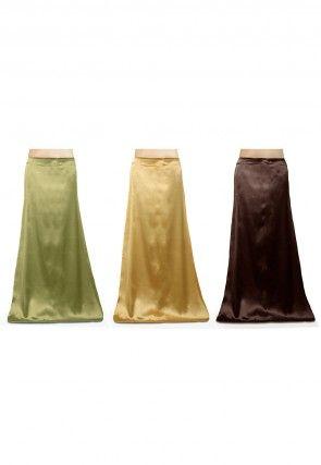 Satin Combo Sets in Petticoat