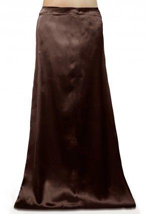 Satin Petticoat in Dark Brown
