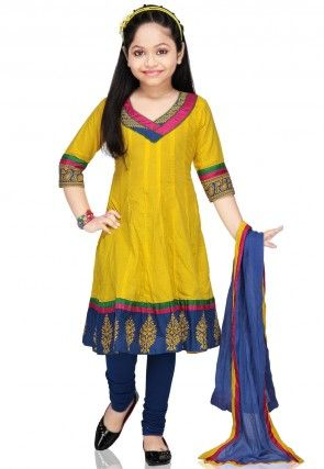 Cotton Salwar Set in Yellow