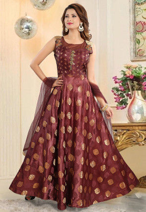 fb8fe35a0b Brown Salwar Suit: Buy Brown Salwar Kameez for Women Online | Utsav ...