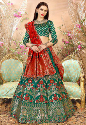 07b6d4ad51d8c Green Color Lehenga Cholis and Green Lehengas Online Shopping