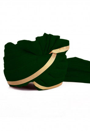 Woven Chanderi Silk Turban in Green