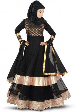 Woven Nida Abaya in Black