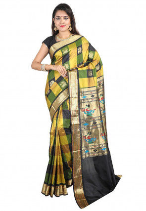 Woven Pure Silk Saree in Multicolor
