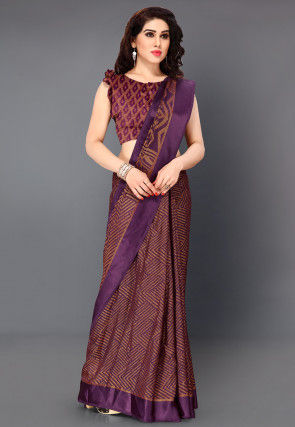 Woven Supernet Saree in Wine