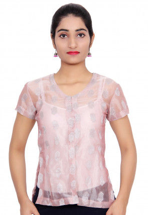Woven Tissue Top in Pink
