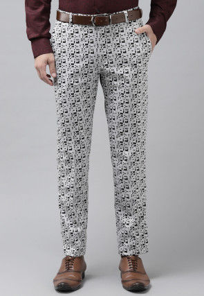 Woven Viscose Trouser in Grey