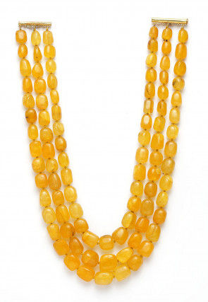 Yellow Agate Stone Layered Necklace