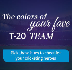 SAY IT WITH TEAM COLORS DURING THE T-20 TOURNEY