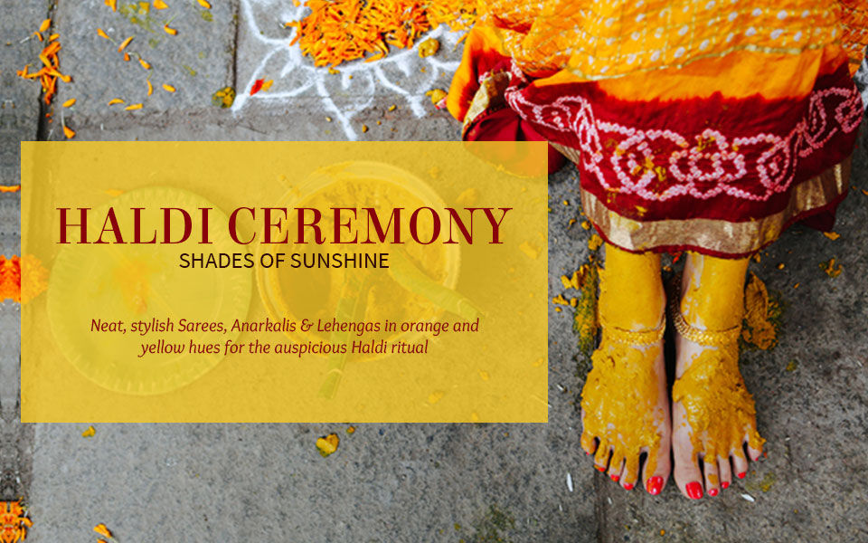 Sunshine Closet for the Haldi Ceremony in Yellow & Orange