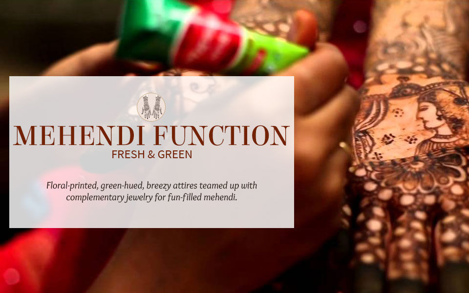 Green and Fresh Fashion for the Mehendi Function