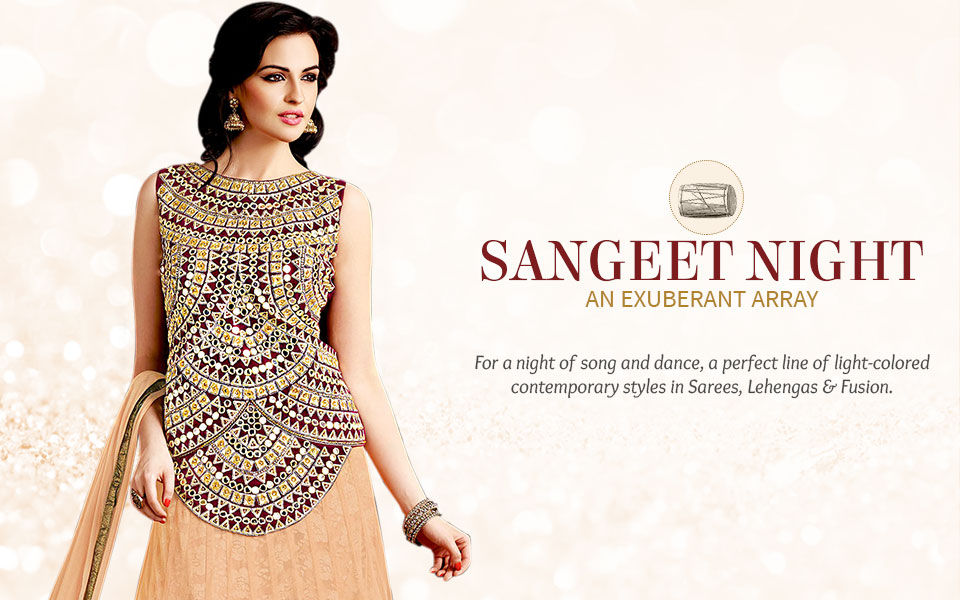 What to wear to Sangeet: Exuberant Colors and Light Embroidered Styles
