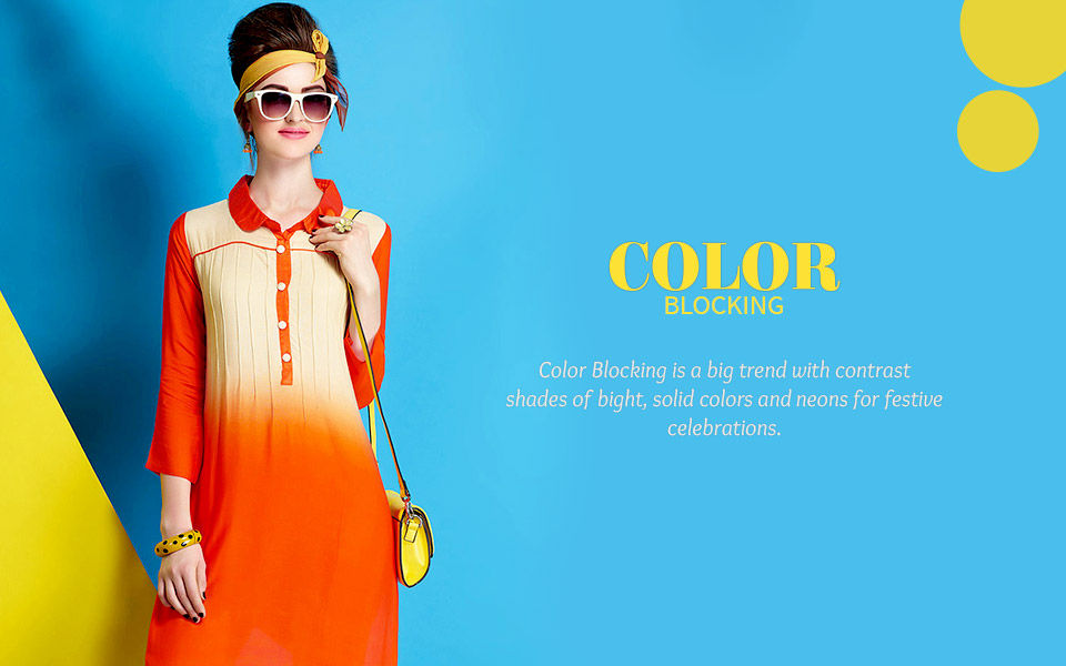 Color blocked Ensembles in Bright Neons & Bold Hues. Shop!