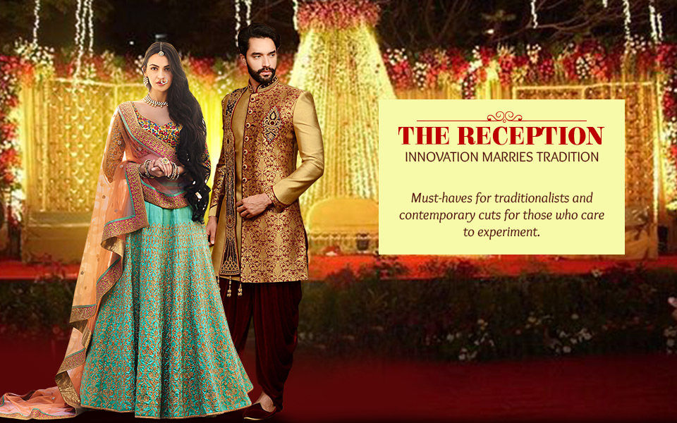 Indian Garbs for Wedding Reception: Ethnic and Fusion Outfits for Women and Men