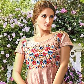 Floral & Paisley Prints, Resham work flowy ensembles for Garden Parties. Shop!