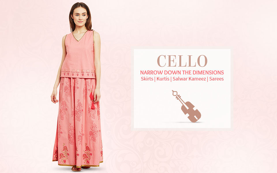 Ethnic fashion ensembles for cello body shape