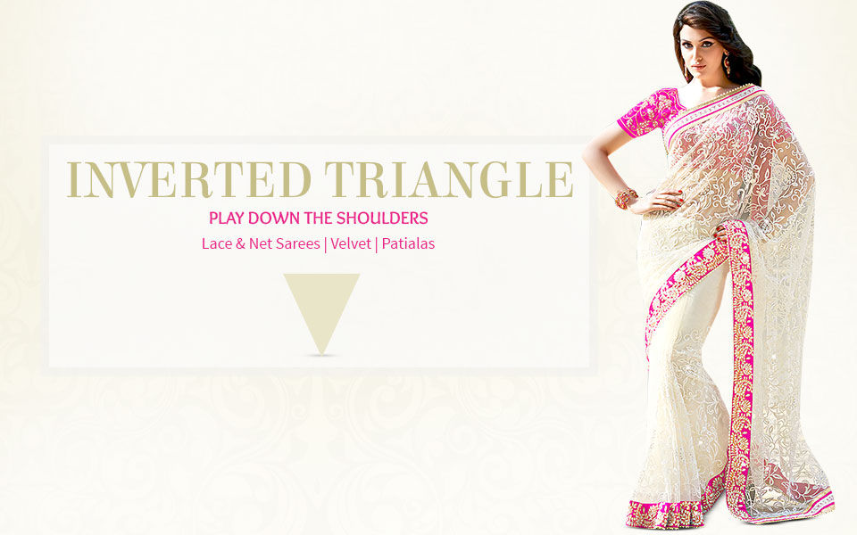 Ethnic fashion ensembles for inverted triangle body shape