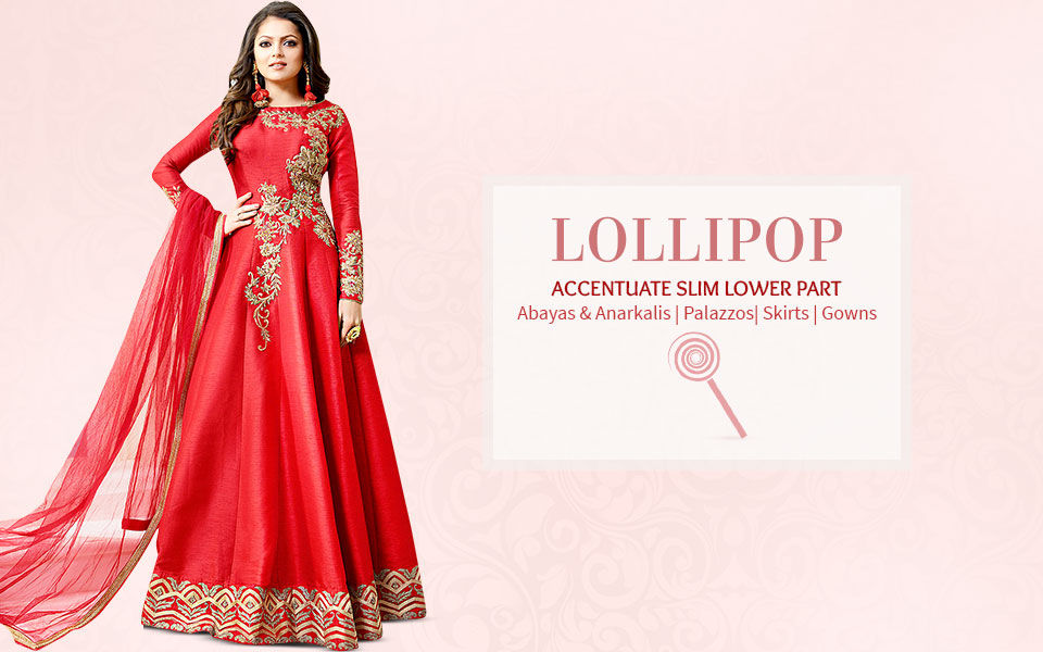 Ethnic fashion ensembles for lollipop body shape