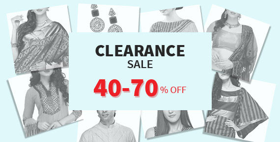 Minimum 40% Off on select items of Sarees, Lehengas, Salwar Suits, Menswear and more. Shop!