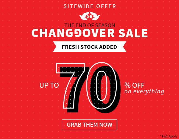 The Biggest Sale of the season is here! Save up to 70% Off on Everything.