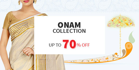 Up to 70% Off on the exclusive collection of Onam.