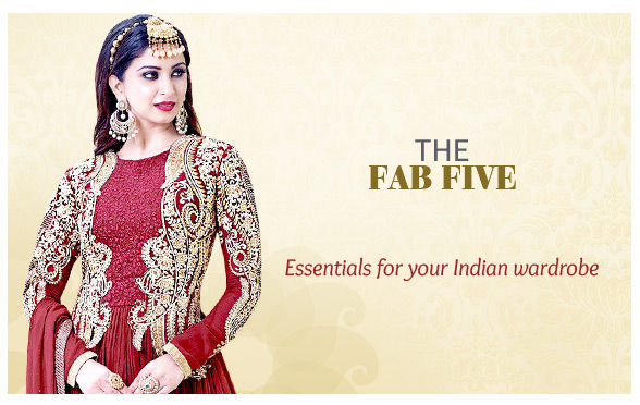 Banarasi Silk Sarees, Anarkalis & Abayas, Palazzos, Skirts, Kurtis, Jewelry & more. Shop!