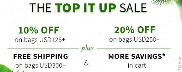 Top it up Sale: Up to 20% Off, + Free Shipping on bags $300+. Shop!
