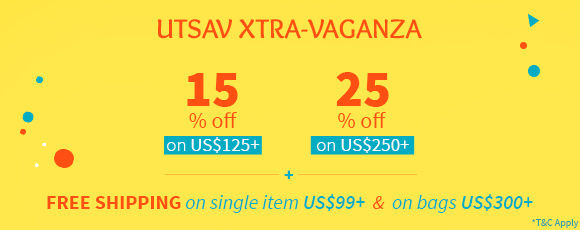 Utsav Extra-Vaganza: Up to 25% Off plus Free Shipping*. Shop!