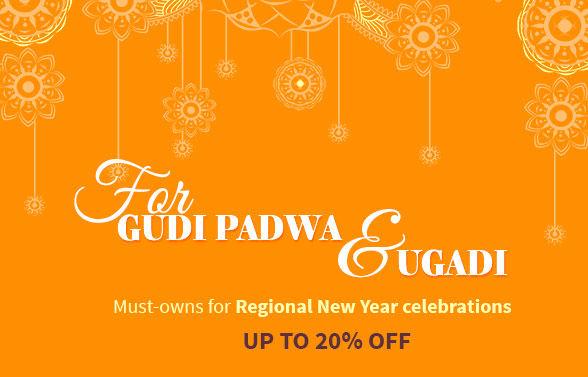 Paithani, Chanderi, Kanchipuram, Sarees & traditional Jewelry for Gudi Padwa & Ugadi. Shop!
