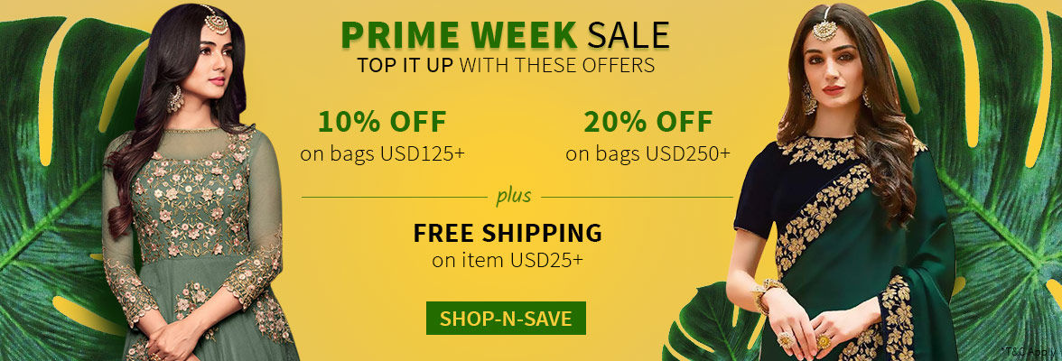 Prime Week Sale: Up to 20% Off, Free Shipping on item US$25 and bags US$300. Shop!