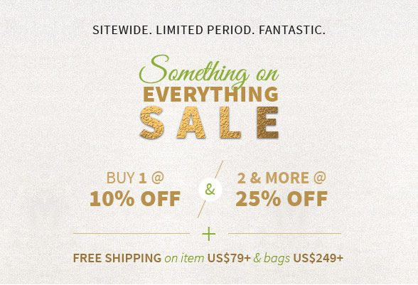Buy 1 @ 10%, 2 n more @ 25% off on everything sitewide. Shop!