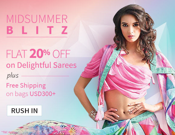 Midsummer Blitz: Flat 20% Off on Must-have Sarees. Shop!