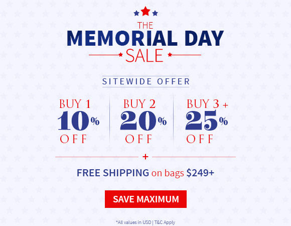 The Memorial Day Sale: Get up to 25% Off plus Free shipping on carts of $249+. Shop!
