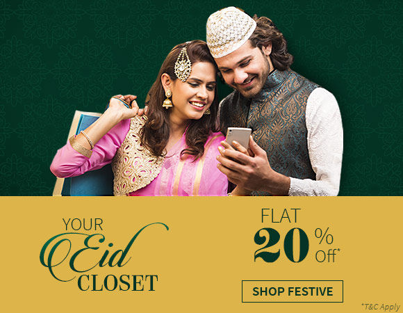 Flat 20% off on 7000+ items in Eid Collection. Shop!