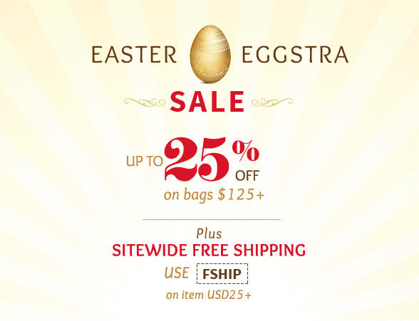 Easter Sale: Get discounts from 15% to 25% on shopping over USD125 plus Free Shipping. Shop!
