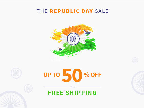 The Republic Day Sale. Savings on Everything, Up to 50% Off + Free Shipping!